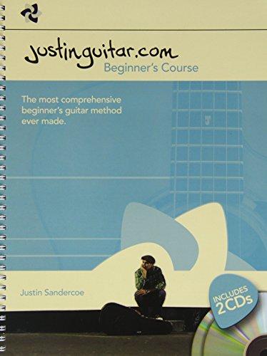 Justinguitar.com Beginner's Course (Spiral Bound): Noten, CD (2) für Gitarre