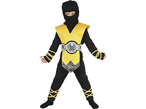 DISONIL Kostüm Ninja Gelb Baby Größe S