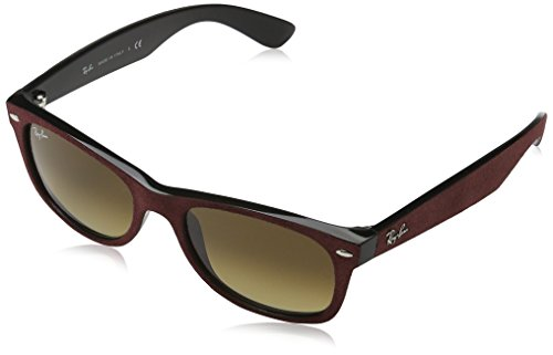 Ray Ban RB2132 New Wayfarer Sonnenbrille 52 mm, Red Alcantara, 52 mm