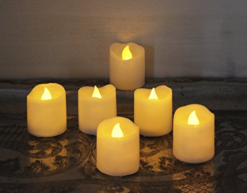 Star 4 x 3,8 cm LED Cera velas, juego de 6, color blanco