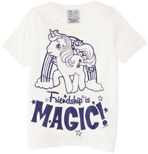 -Shirt Kids Shirt My Little Pony-Magic, Elfenbein (Almost White), 8 Years (Manufacturer Size:122/134) (Herstellergröße: Manufacturer Size:122/134) (Mädchen My Little Pony Kostümen)