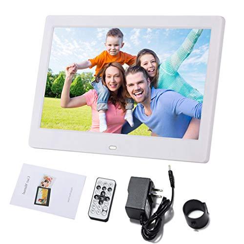 KUNCC Digitaler Fotorahmen mit Touch-Typ, automatischer EIN/Aus-Timer für 13,12 Zoll (1024x600) Auflösung/Musik/Video-Player, ultradünnes Design mit Fernbedienung,White 13.12 Video