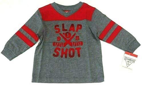 OshKosh B'Gosh Langarmshirt 62 68 74 rot grau Junge USA Size 6 9 Month Sweatshirt Baby (62/68) Oshkosh Usa-sweatshirt