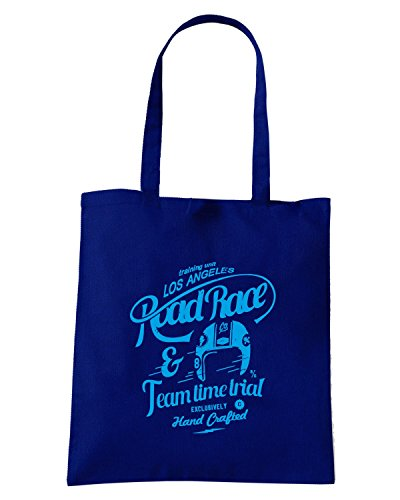 T-Shirtshock - Borsa Shopping TB0401 retro race motor for apparel Blu Navy