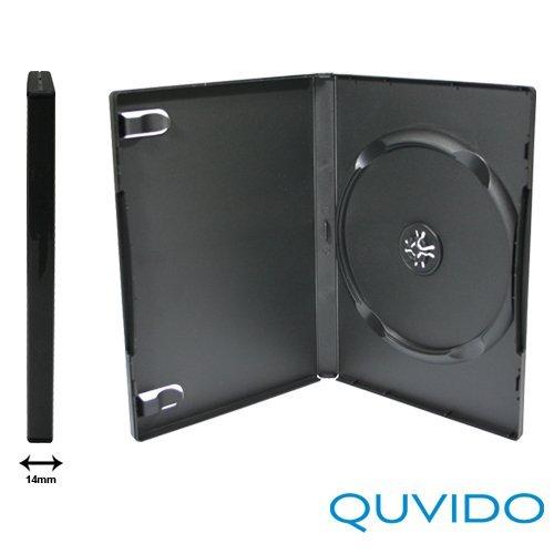 20 QUVIDO DVD Hüllen Schwarz Single / 1 CD o. DVD / 14mm