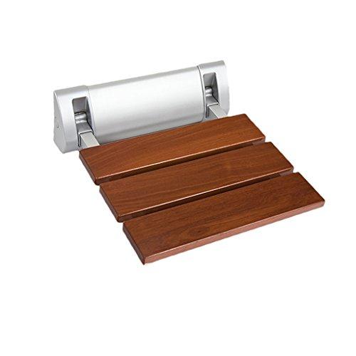 YFF ~ Necesidades diarias Taburetes plegables de ducha de pared Taburete de madera montado en la pared de madera asiento Taburete para ancianos / minusválidos taburete de asiento de ducha antideslizante Taburete Max. 150kg a salvo Suministros