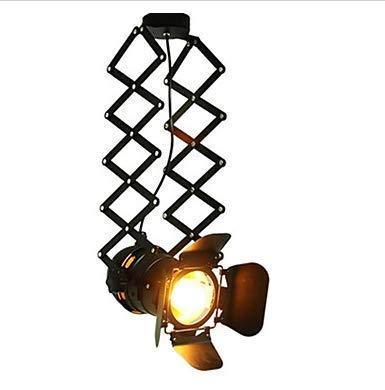 BAIF Retro Industrie Wind Kronleuchter Kleidung Schaufenster Personalisierte Sonde Track Vier-Blatt-Kronleuchter -