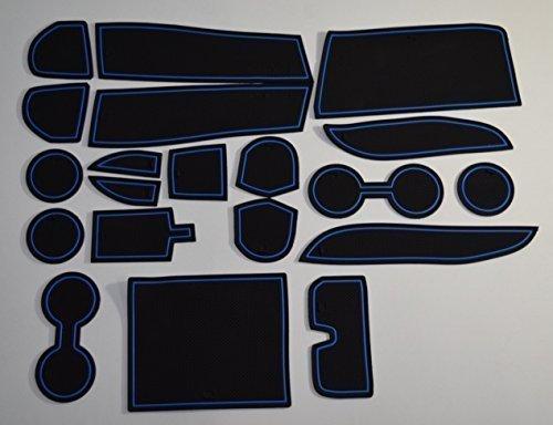 Kinmei Toyota 30Serie Alphard Alphard blau hochwertigem Konsole Box Auto Speziell Interior Tür Pocket Matte Getränkehalter rutschfeste Anti-Rutsch Gummi Stauraum Schutz toyotak-28 - Stauraum-insel