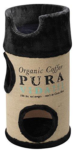 *Europet Bernina 431431832 Katzenmöbel Cat Dome Coffee inklusiv Plüschkissen, schwarz*