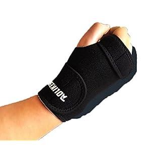 Aogolouk Wrist Support Gymnastics Hand Bracer Grip Belt Wristbands Palm Protector for Fitness (Right)