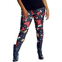 Pantalón Chandal Mujer Impresión Sombrero de Navidad,Mallas Pantalones Yoga Mujeres Deportivos de Cintura Alta para Mujeres Running Fitness Leggings Ropa de Ejercicio Gusspower