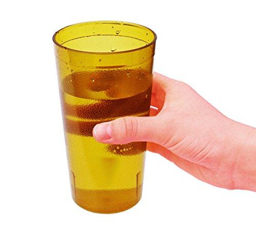 New Star Foodservice 46601Tumbler Getränk, Tassen, Restaurant Qualität, Kunststoff, 8oz, Bernstein, Set von 12 (Cuisinart Tupperware)