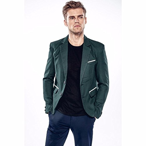 Blazer, Oyedens Vestito di Affari Cappotto Giacca Blazer Uomo Giacca Due Pulsanti Verde