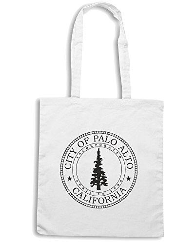 T-Shirtshock - Borsa Shopping TM0052 City of Palo Alto Seal citta Bianco