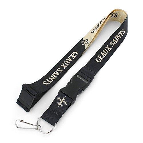 NFL New Orleans Saints Slogan Lanyard Fan Schlüsselanhänger, schwarz -