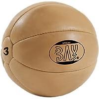 Preisvergleich für BAY® LEDER PU 3 Kilo Medizinball, Profi-Qualität, Gymnastik / Fitness Ball, Farbe braun, drei Kilo Gymnastikball Rehaball Fitnessball Gewichtsball 3 KG Medizinbälle Medizin Vollball Gewichtsball