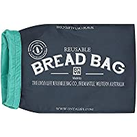 ONYA Reusable Bread Bags to Keep Bread Fresh/Storage Bag/Food Storage Baguette Loaf Roll Bag Keeper 41 x 25 x 10cm (Charcoal)
