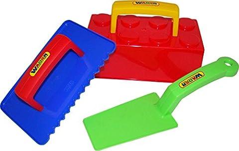 Small Foot Company 8783 - Sandspielzeug - Maurer 3-er Set,