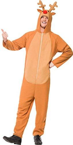 Adulti Fancy Dress party renna animale costume da uomo completo di Natale