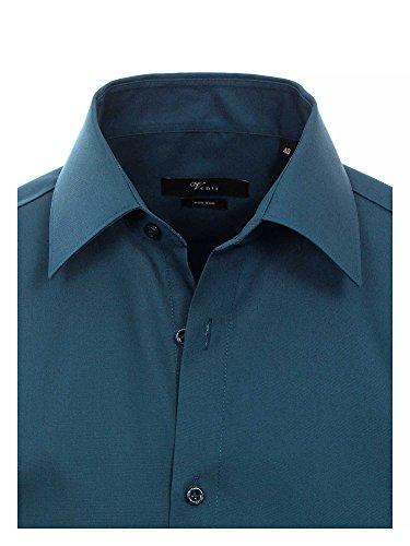 Venti Messieurs Chemise d'affaires Également disponible en grandes tailles 100 % coton bleu foncé