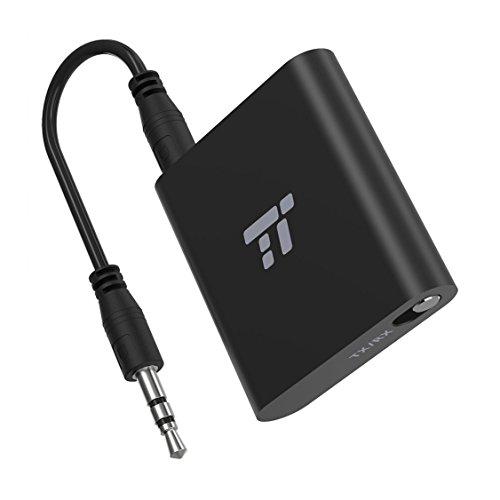 TaoTronics Bluetooth Adapter 5.0 Bluetooth Transmitter und Empfänger 2-in-1 Bluetooth Sender 20m Reichweite mit 3.5mm Kabel und RCA, Kabelloser Audioadapter, aptX LL mit 2 Geräten verbinden