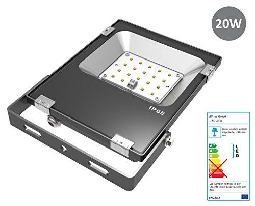 Usado, illumitec LED Foco exterior FL de a serie 20W Negro segunda mano  Se entrega en toda España