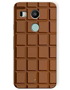 Google Nexus 5x Cases & Covers - Chocolate Bar Case by myPhoneMate - Designer Printed Hard Matte Case - Protects from Scratch and Bumps & Drops.