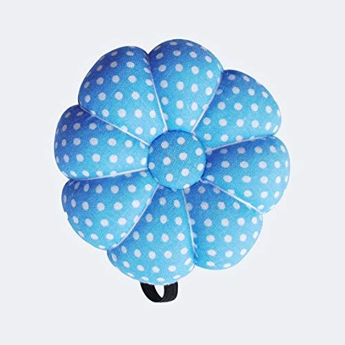 Dessin animé Mignon Citrouille Aiguille Couture Coussin Coussin élastique Bouton dragonne pour la Maison Tailleurs sécurité Artisanat Outil - Bleu