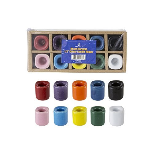 mik Chime Ritual Spell Kerzenhalter-Verschiedene Farben, Set von 10 ()