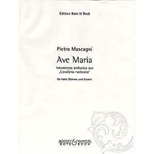 BOTE AND BOCK MASCAGNI PIETRO - CAVALLERIA RUSTICANA - HIGH VOICE AND PIANO Partition classique Vocale - chorale Voix solo et instrument