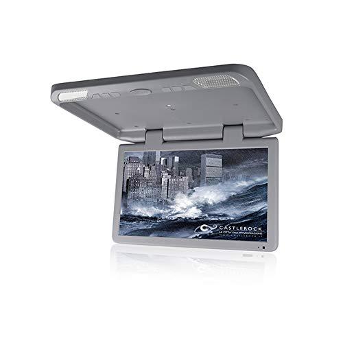 TJCB Strahlenschutz Auto TV-Monitor Decke 18,5 Zoll TFT-Großbildschirm HD 1080P Geeignet für HDMI SD FM PAL NTSC-Videobetrieb Kombination MP3 / MP4-Player