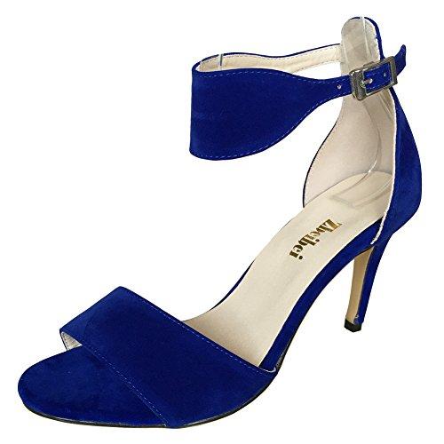 ZBeiBei , Bride de cheville femme Blue Velvet