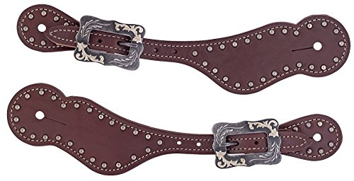 Weaver Leather Ladies Oiled Harness Leather Spur Straps -