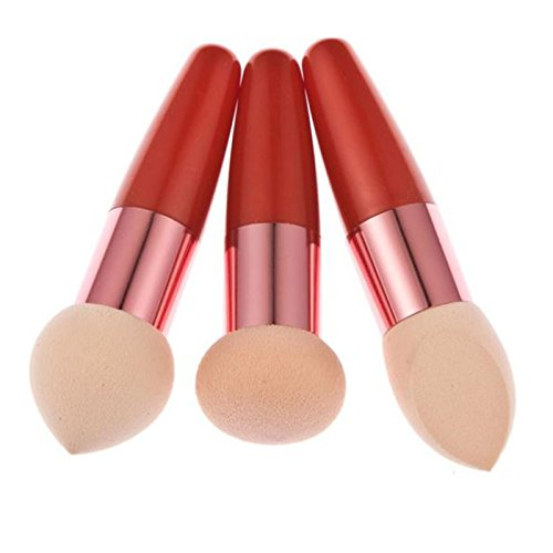 LuckyGirls 3PC Make-up Pinsel Set kosmetische flüssige Creme Foundation Concealer Lollipop Schwamm...