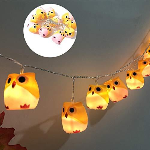 Beautytalk Lichterketten LED Cute Owl Lights für Halloween Spezial-Stimmungsbeleuchtung Dekoration für Zimmer