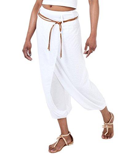 KRISP 4866-WHT-L: Pumphose Aladin Yoga Baggy Style (Weiß, Gr.L)