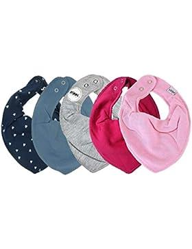 Pippi 4er Mixed Set Baby Dreieckstuch Halstuch 4 Stück Organic Cotton + 1 GRATIS Tuch ~ 5er Pack