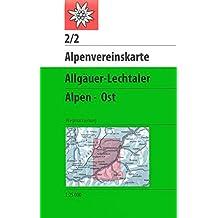 Allgäuer-Lechtaler Alpen - Ost: Wegmarkierung (Alpenvereinskarten)