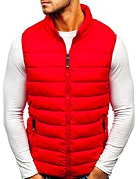 4fc1fb8054 BOLF Men s Hooded Gilet Sport Vest Casual Bodywarmer Padded Zip Mix  4D4