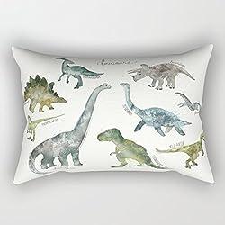 Diseño de dinosaurios Rectángulo funda de almohada decorativa fundas de almohada con cremallera fundas de almohada (12x 20para niños