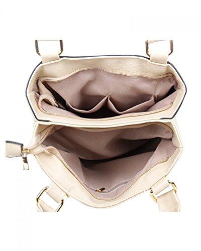LeahWard Große Schultertaschen Für Frauen Damen weiche Taschen Handtaschen für die Schule CW14119 (Zitrone Schultertasche) Weiß