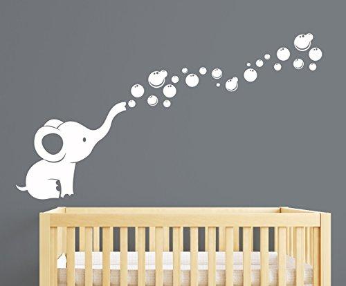 Wandaufkleber für Kinderzimmer, Motiv Elefantenblasen