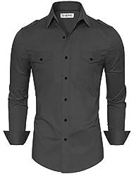 Tom's Ware Chemises habillees-Coupe ajustee plaine boutonne-Hommes