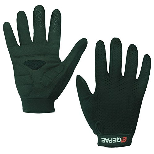 Lerway Anti-Rutsch Outdoor Hände Handschuhe Breath Weich Vollfinger MTB Handschuh Fahrradhandschuhe für Radfahren,Fahrrad Sports (Schwarz, XL) - 3