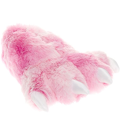 wishpets Bärentatze Hausschuhe (Pink, klein) Pink w/ White Toes