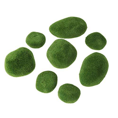 BESPORTBLE Realistischer Moss Stone Lifelike Simulation Green Durable Moss Stone for Desktop Office Glass Jar Terrarium