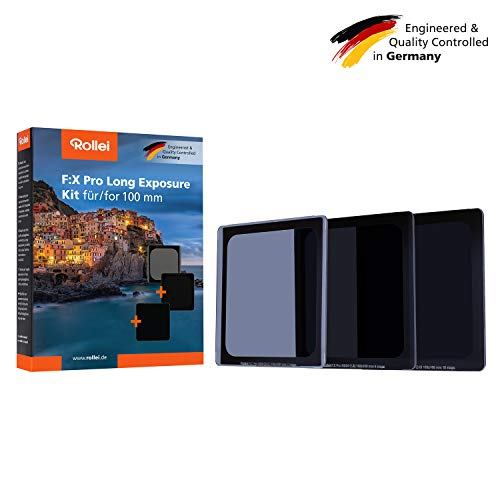 Rollei F:X Pro ND Filter Set | ND8, ND64 & ND1000 Rechteckfilter aus Gorilla Glas | Graufilter für Langzeitbelichtung geeignet für Filterhalter Systeme