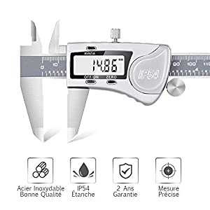 medición y trazado: Calibre Vernier Digital (acero inoxidable–IP54Caliper Digital Calibre profesi...