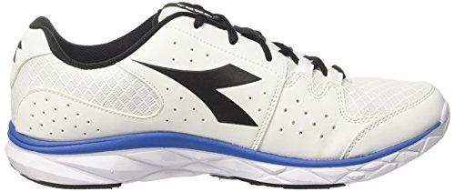 Diadora Hawk 7, Chaussures de Course Homme Blanc Cassé (Bianco/azzurro/nero)