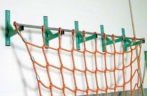 Kletternetz mit Wandbefestigung Polypropylen Orange